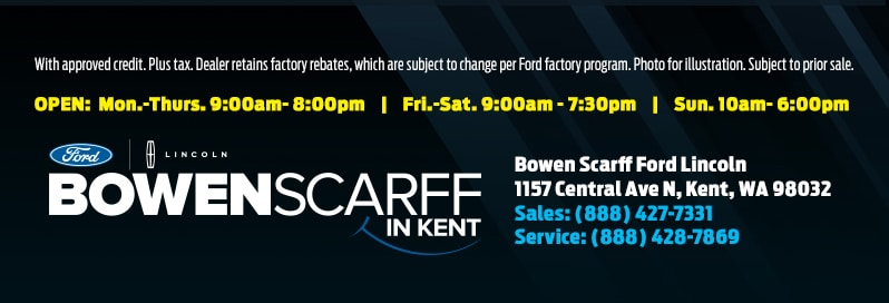 A flyer highlighting a huge sale on all 2018 Ford Ecosport SE models near Seattle at Bowen Scarff Ford in Kent, WA