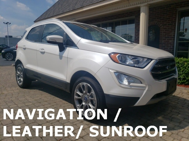 Used 2018 Ford EcoSport Titanium AWD w Nav, Leather & Sunroof SUV for sale in Bowling Green, OH