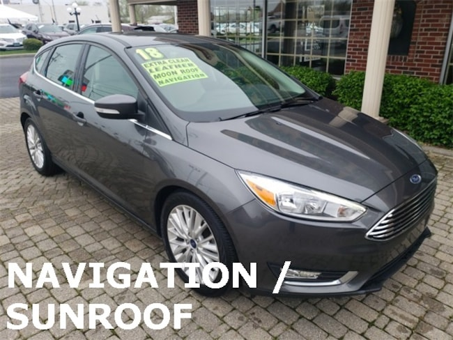 Used 2018 Ford Focus Titanium w Nav, Leather & Sunroof Hatchback for sale in Bowling Green, OH