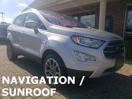 2018 Ford EcoSport Titanium AWD w Nav, Leather & Sunroof SUV