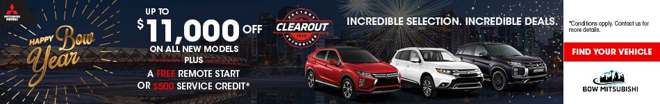 Bow Mitsubishi Clear-out Sale