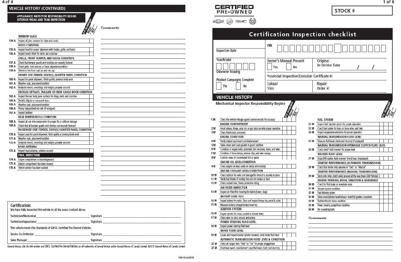 Gms 150 point vehicle inspection sheet boyer chevrolet lindsay 150 point vehicle inspection sheet altavistaventures Images