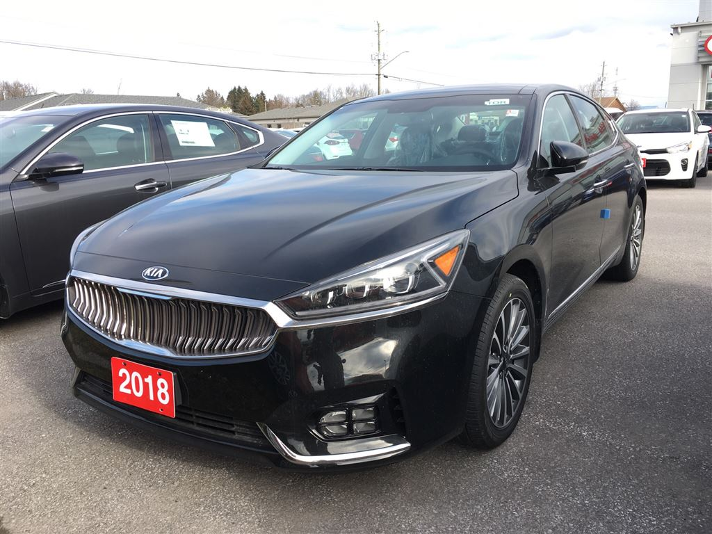 2018 Kia Cadenza Premium Sedan 8 Speed Automatic [] Aurora Black