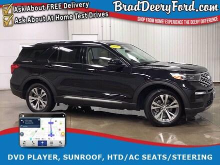 2020 Ford Explorer Platinum 4WD w/ DVD Player, Nav, Sunroof, Heated/C SUV