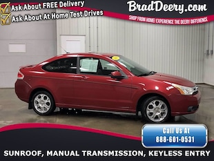 2008 Ford Focus SES  ** LOW MILES !! ** W/ Leather Seats, PWR Sun/ Coupe