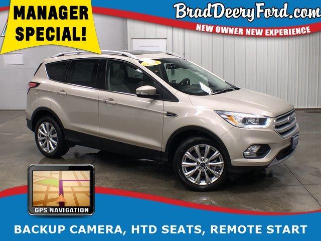 2018 Ford Escape Titanium 4X4, W/ Nav, Sunroof, Htd Seats, R. Start SUV