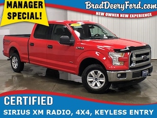 2016 Ford F-150 XLT SuperCrew 4X4 W/ Tow Package and Keyless Entry Truck SuperCrew Cab