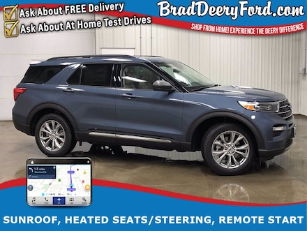 2021 Ford Explorer XLT 4X4 w/ Nav, Sunroof, Heated Leather, Remote St SUV
