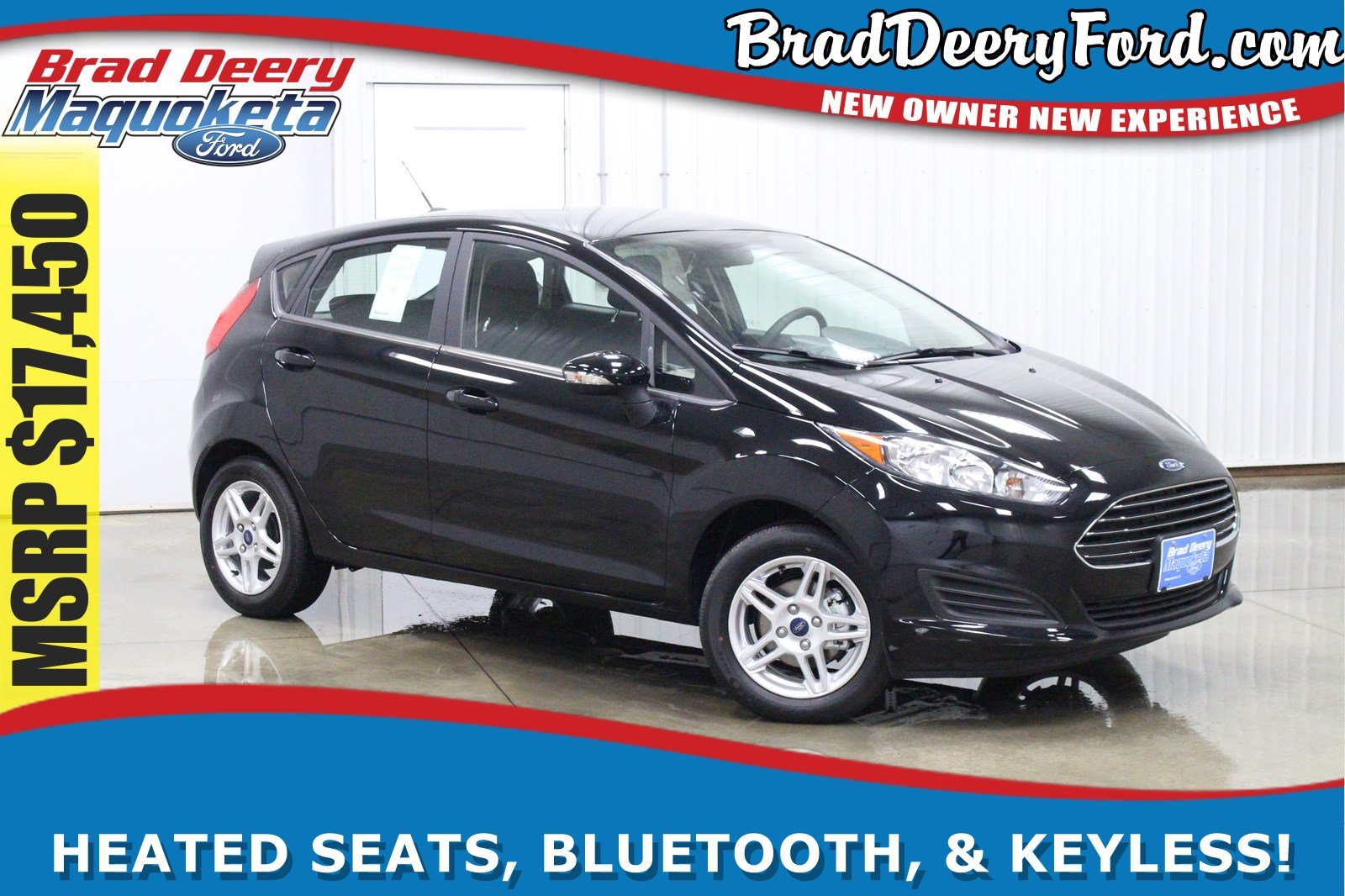 2017 Ford Fiesta SE w/ H. Seats & Bluetooth Hatchback