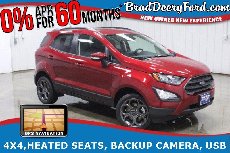 2018 Ford EcoSport SES 4X4, Navigation, Sunroof, Heated Seats, Back-u SUV