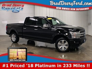 2018 Ford F-150 Platinum SuperCrew 4X4 w/ Nav, Htd/Cld. Leather, R Truck SuperCrew Cab