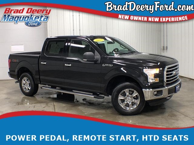 2015 Ford F-150 XLT SuperCrew 4X4, W/ Bed Liner, B-up Camera, Htd. Truck SuperCrew Cab