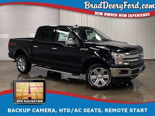 2019 Ford F-150 Lariat SuperCrew 4X4 w/ Moonroof, Navigation, R.St Truck SuperCrew Cab