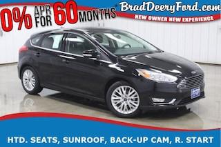 2018 Ford Focus Titanium w/ Sunroof, Heated Seats, Back-up Camera, Hatchback
