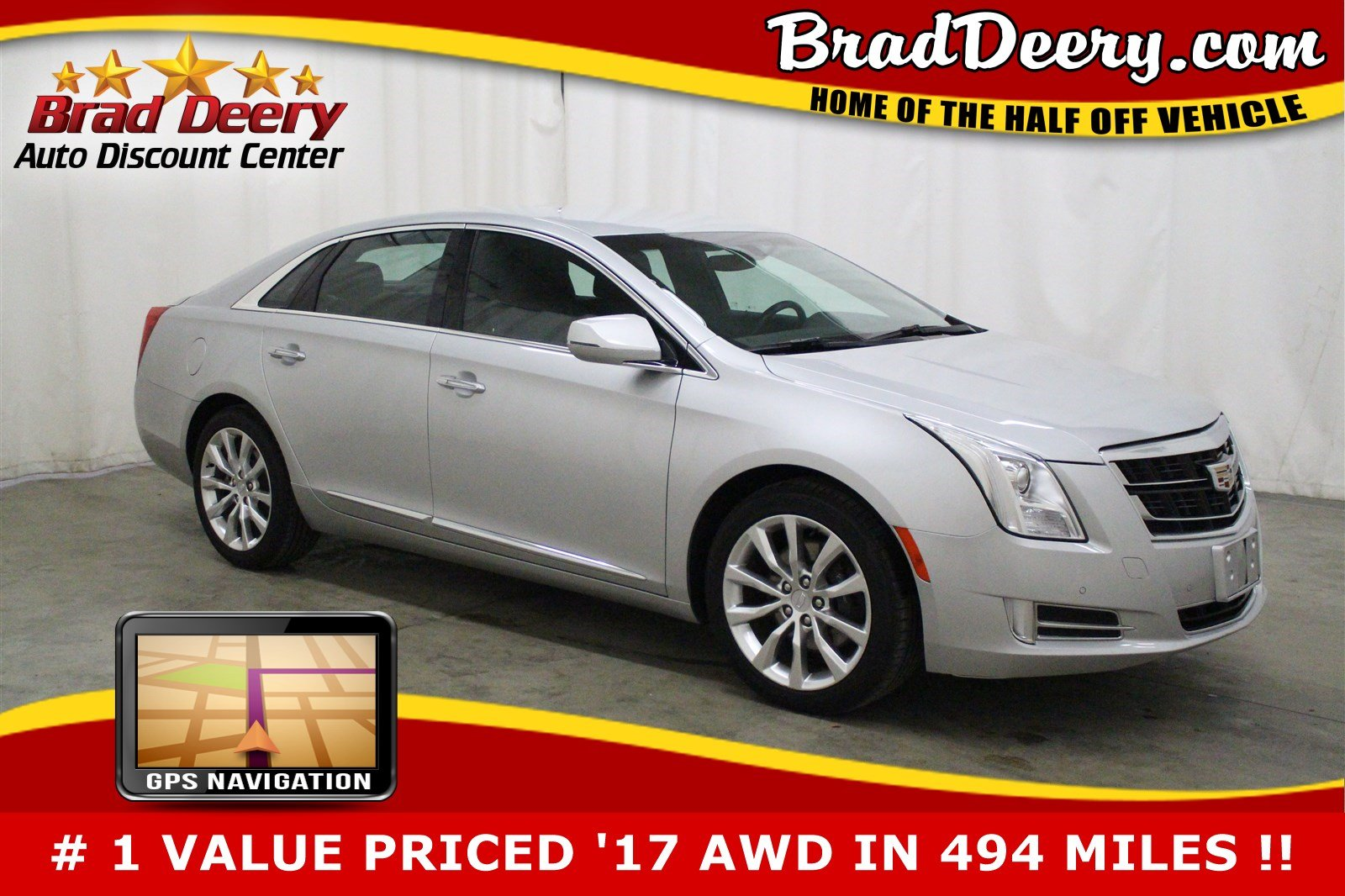 2017 CADILLAC XTS Luxury AWD w/ Nav, Htd/AC Leather & R. Start Sedan