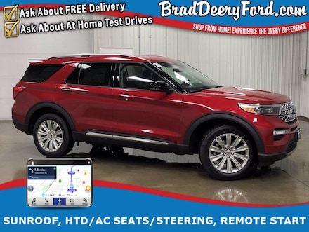 2021 Ford Explorer Limited 4X4 w/ Nav, Sunroof, Heated/Cooled Leather SUV