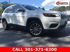 Used 2019 Jeep Cherokee Latitude Plus FWD SUV 1C4PJLLB2KD154778 22596 serving Frederick MD
