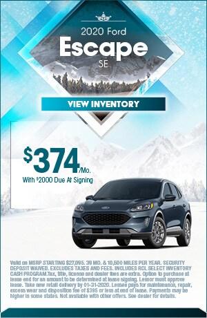 January 2019 Ford Escape SE