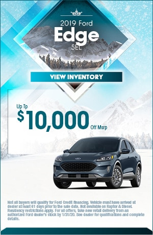 January 2019 Ford Edge Offer