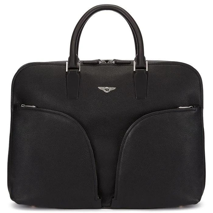 Bentley-Inspired Italian Leather Briefcase