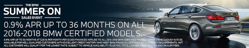 Summer On specials on CPO BMWs