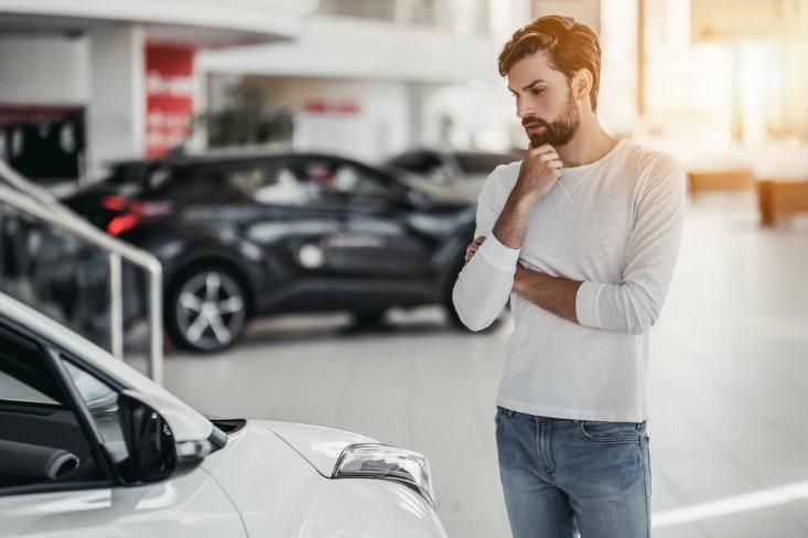 Man Car Shopping in Miami