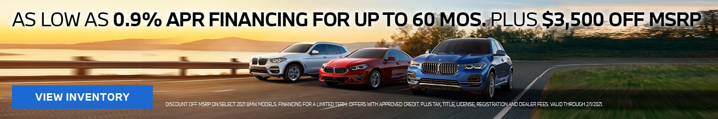 As low as 0.9% APR financing for up to 60 mos. plus $3,500 OFF MSRP!