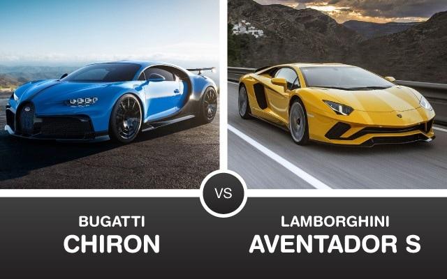 Bugatti Chiron vs Lamborghini Aventador S