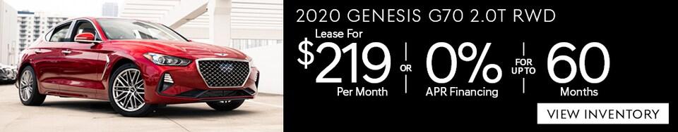 New 2020 Genesis G70 2.0T RWD