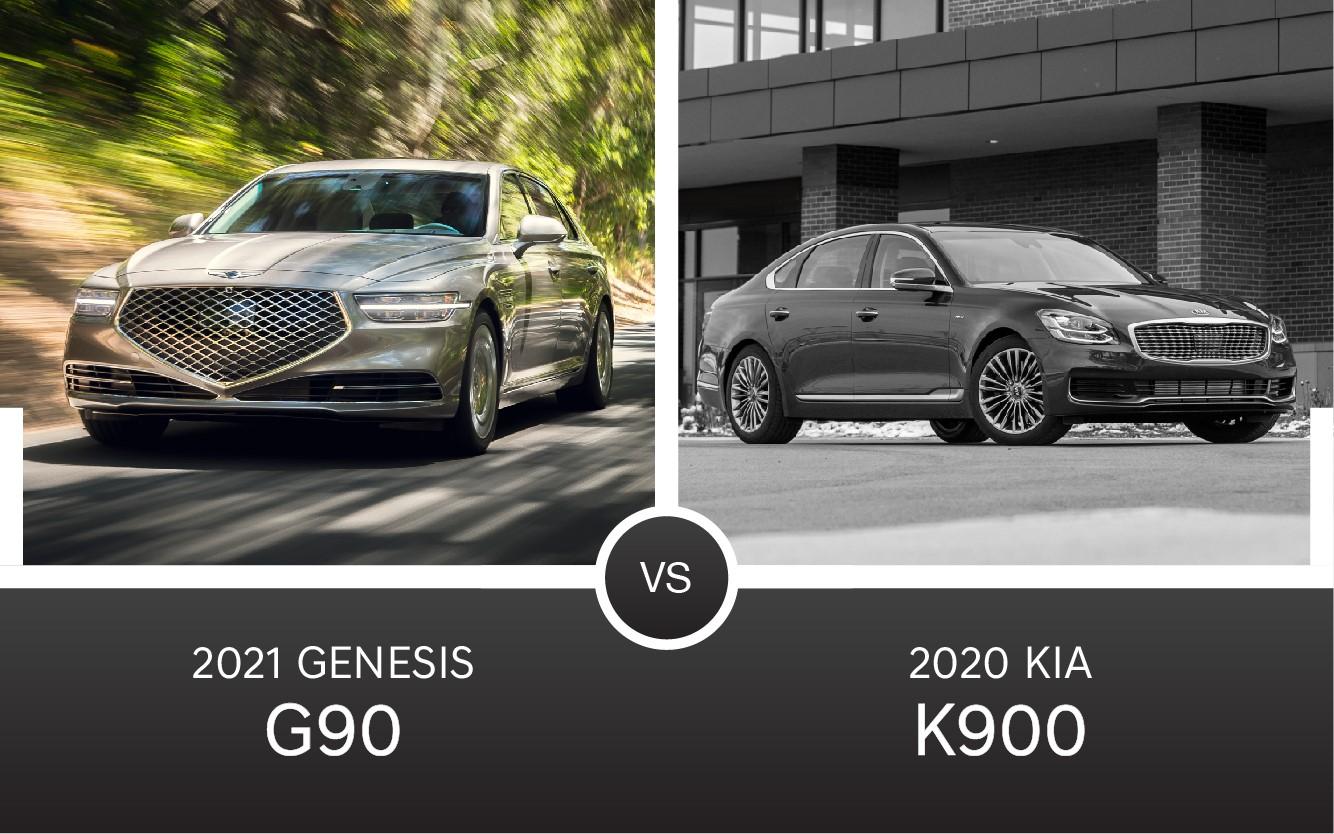 2021 Genesis G90 vs. Kia K900