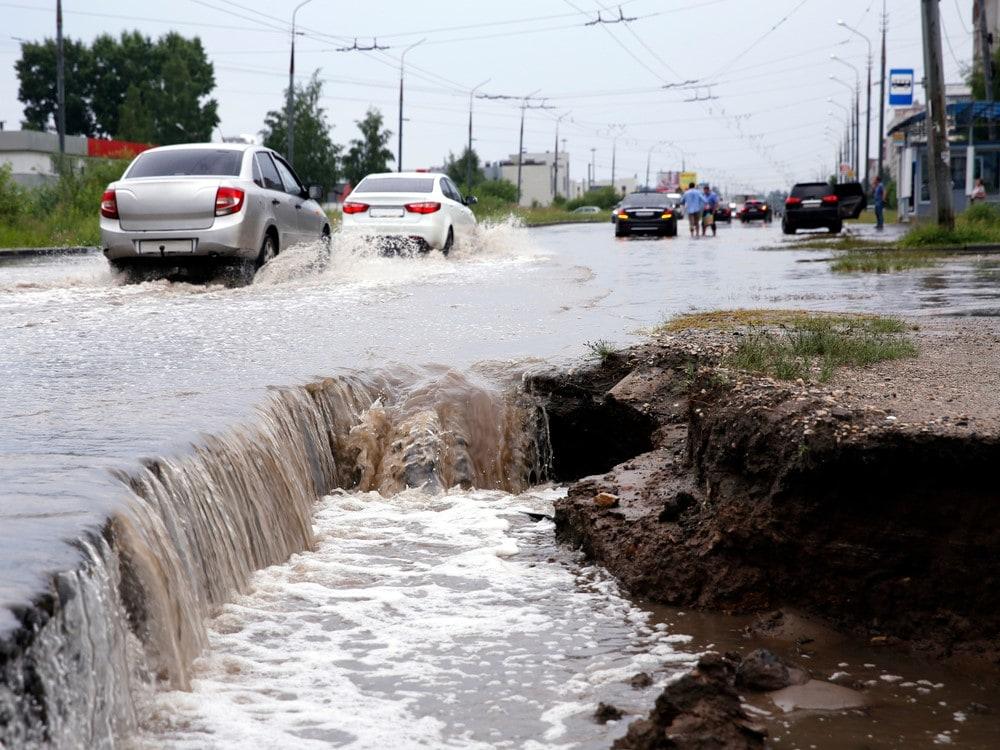 Sinkhole in Miami, FL