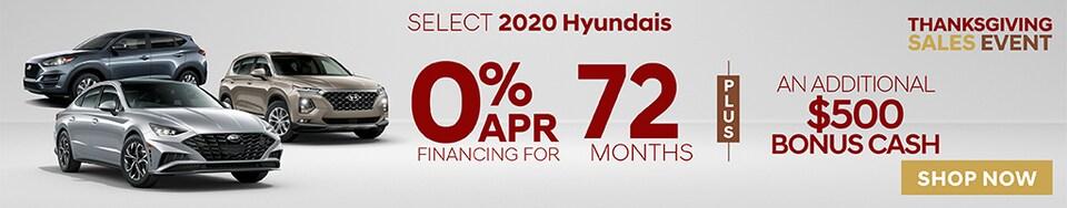 New Hyundais Thanksgiving sale