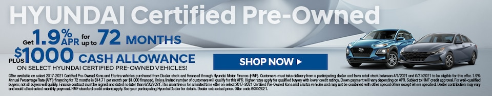 Certified Pre-Owned Hyundais