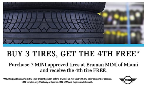 Buy 3 tires, get 4th free