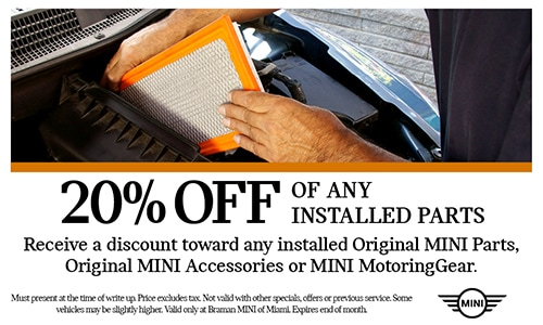 20% off installed parts