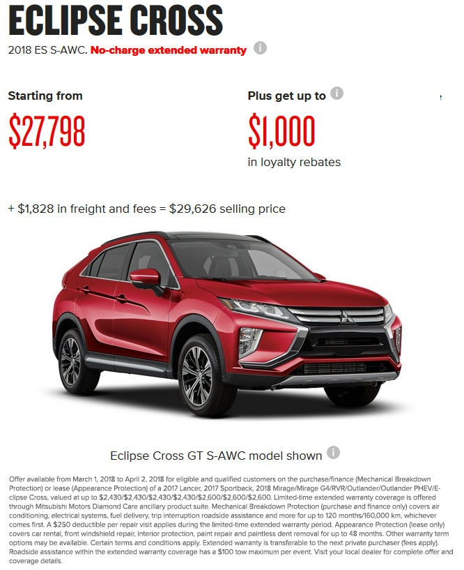 New Mitsubishi Specials And Promotions Brampton Mitsubishi - Mitsubishi promotions