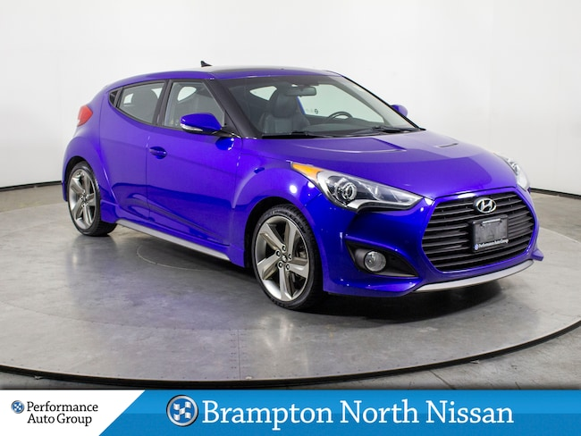 2014 Hyundai Veloster 1.6L. TURBO. LEATHER. NAVI. HTD SEATS. PANO ROOF Hatchback