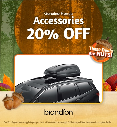 Genuine Honda Accessories 20% Off