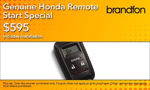 $595 Genuine Honda Remote Start Special