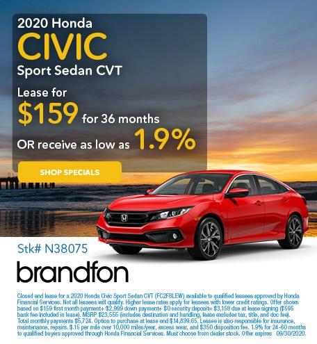 2020 Honda Civic September
