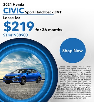 2021 Honda Civic Sport Hatchback CVT