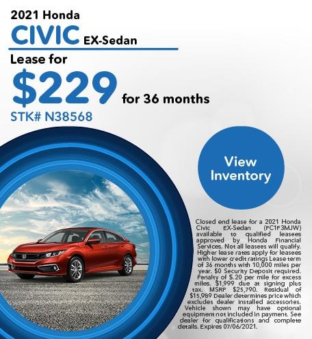2021 Honda Civic EX-Sedan