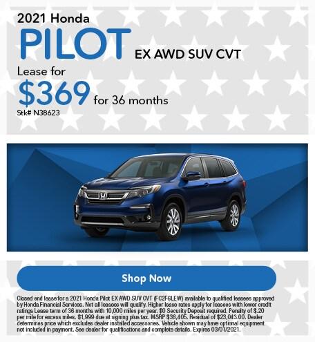 2021 Honda Pilot EX AWD SUV CVT