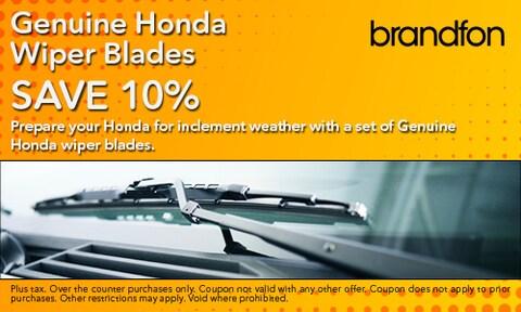 10% Off Genuine Honda Wiper Blades