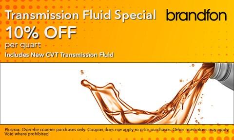 10% Off Transmission Fluid Special