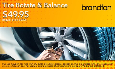 $49.95 Tire Rotate & Balance