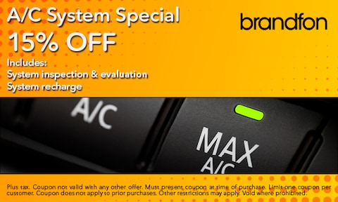 15% Off A/C System Special