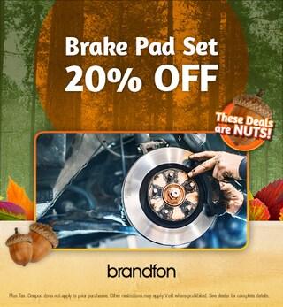 20% off brake pads