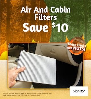 Air And Cabin Filters Save $10