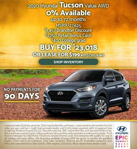 2020 Hyundai Tucson July